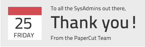 Happy Sysadmin Day 2014!