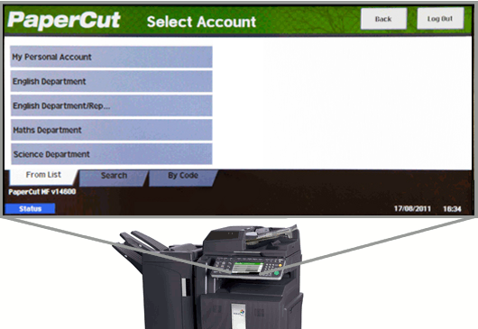 UTAX MFD with PaperCut embedded application
