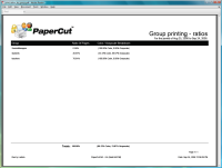 Report: Group Printing - Ratios
