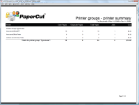 Report: Printer Groups - Printer Summary