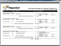 Report: Shared Account Printing Invoice - Summary
