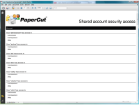 Report: Shared Account Security Access