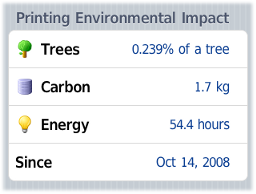 Environmental impact statistics from an iPhone (mobile user web tools)