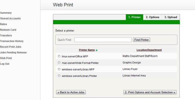 Web Print (Mobile Printing) From PaperCut