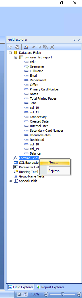 Papercut Kb Custom Reporting By Example A Crystal Reports How To