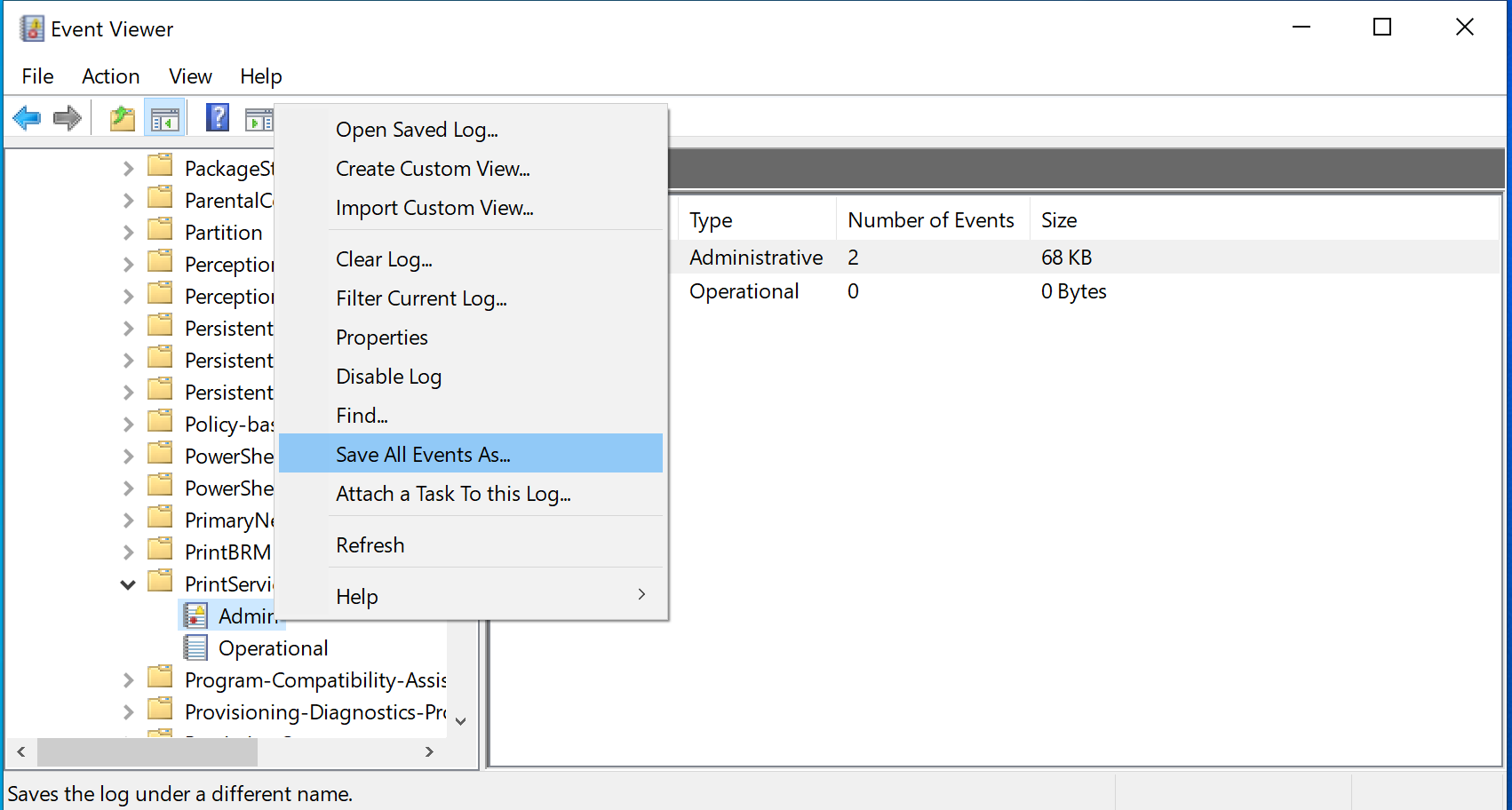 Use The Windows Event Viewer To Track Printing Events Papercut