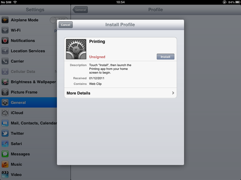 iOS printing (iPad & iPhone)