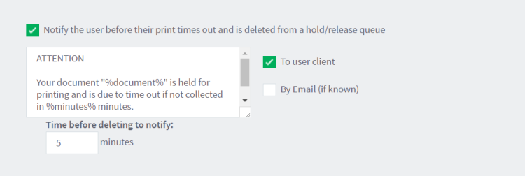 Configure system notifications
