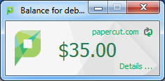 Example 1: Printing with the popup confirmation window