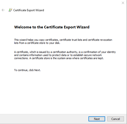 Use An Existing Trusted IIS Certificate