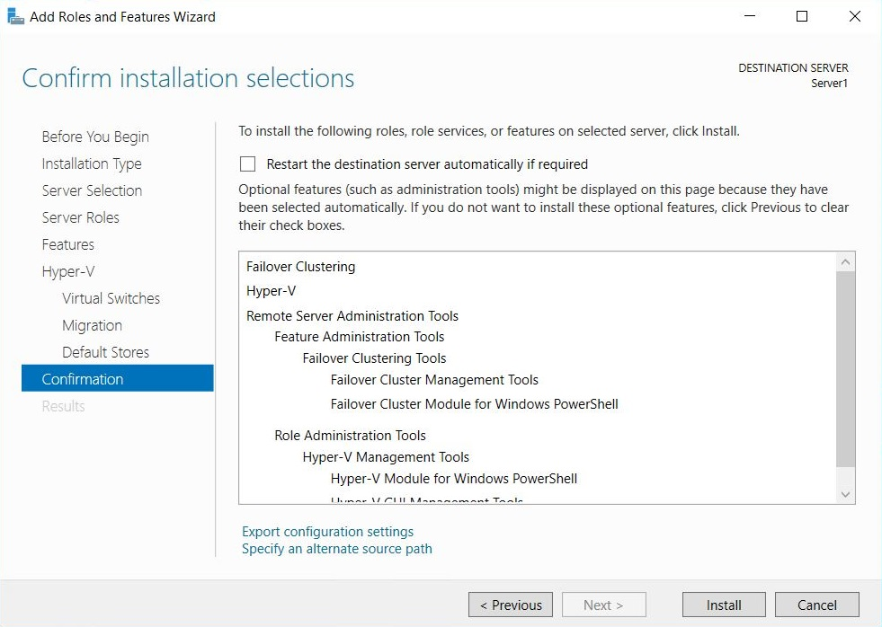 Microsoft Failover Cluster Manager (MSFCM) on Windows server 2012/2016