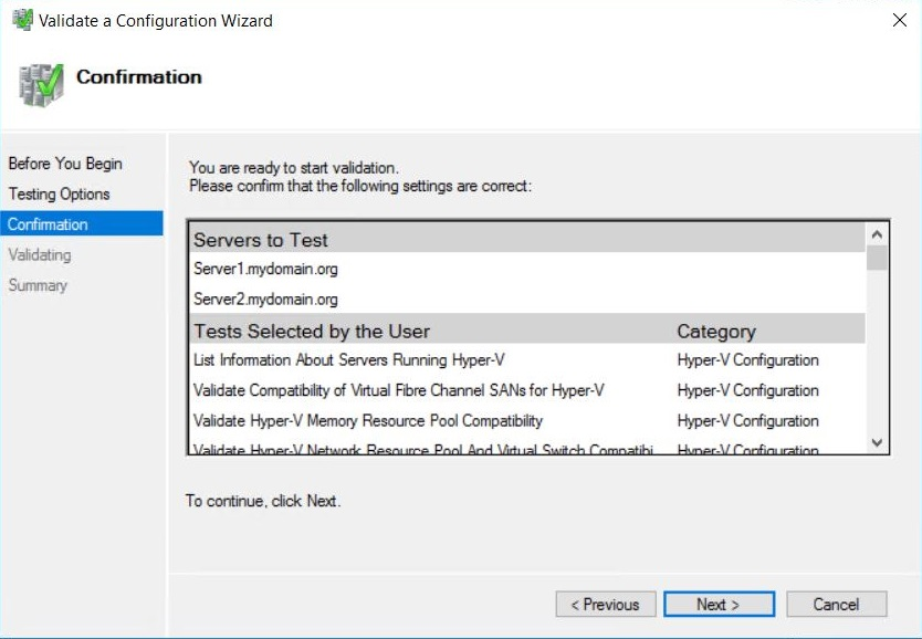 Microsoft Failover Cluster Manager (MSFCM) on Windows server