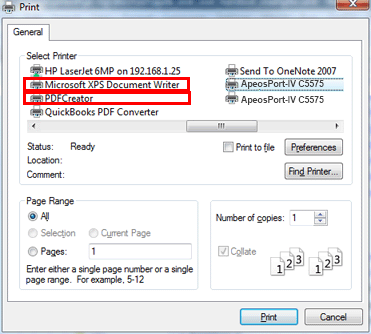 example 6 printing from a wireless network or laptop web print